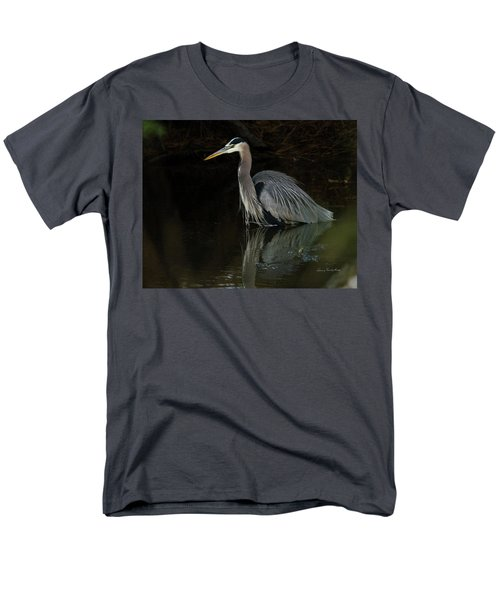 Men's T-Shirt  (Regular Fit) featuring the photograph Reflection Of A Heron by George Randy Bass