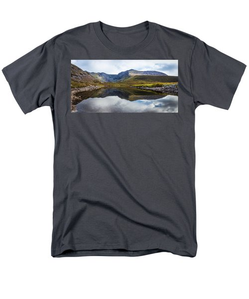 Men's T-Shirt  (Regular Fit) featuring the photograph Reflection Of The Macgillycuddy's Reeks In Lough Eagher by Semmick Photo