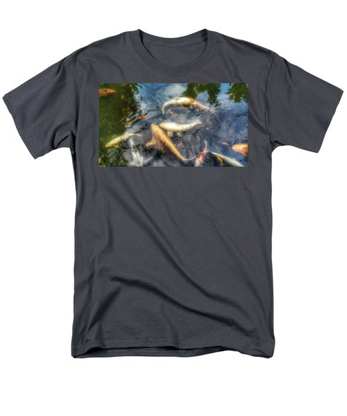 Reflections And Fish 2 Men's T-Shirt  (Regular Fit) by Isabella F Abbie Shores FRSA