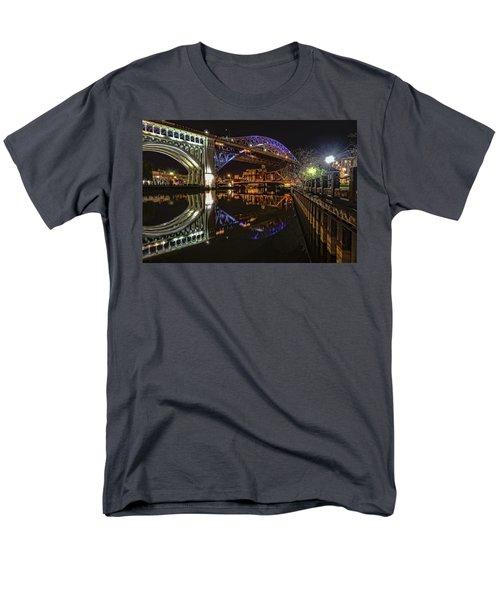 Reflections Of Veterans Memorial Bridge  Men's T-Shirt  (Regular Fit) by Brent Durken