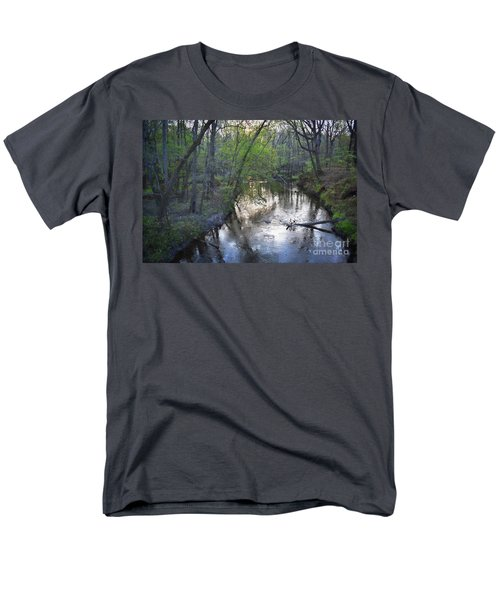Men's T-Shirt  (Regular Fit) featuring the photograph Reflections On The Congaree Creek by Skip Willits