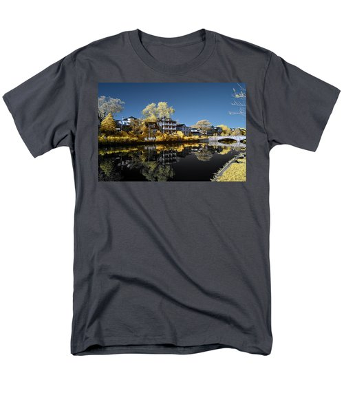 Reflections On Wesley Lake Men's T-Shirt  (Regular Fit) by Paul Seymour