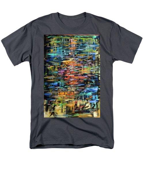 Reflections Rain Men's T-Shirt  (Regular Fit) by Linda Olsen
