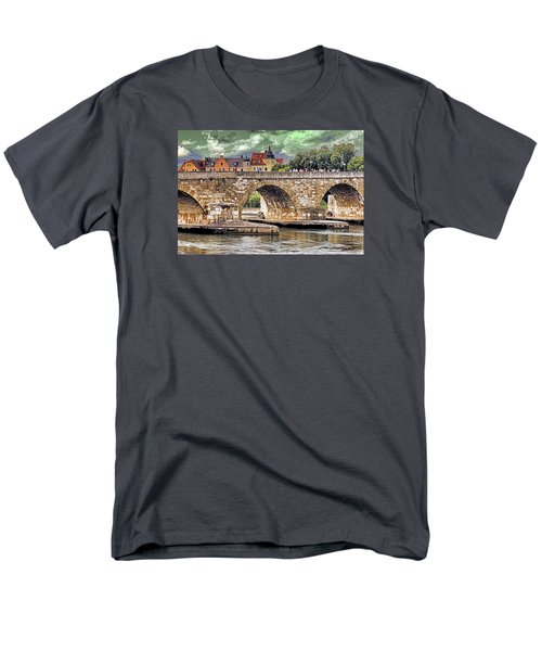 Men's T-Shirt  (Regular Fit) featuring the photograph Regensburg Stone Bridge by Dennis Cox WorldViews