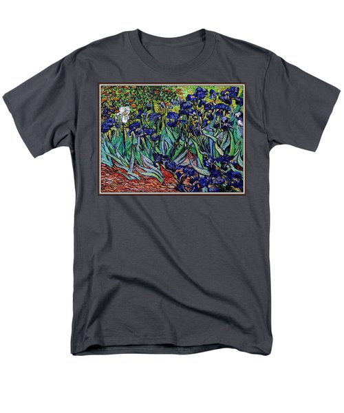 replica of Van Gogh irises Men's T-Shirt  (Regular Fit) by Pemaro