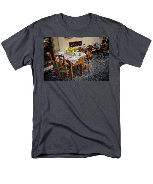 Restaurant In Sicily  Men's T-Shirt  (Regular Fit) by Patrick Boening