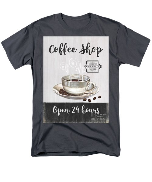 Men's T-Shirt  (Regular Fit) featuring the painting Retro Coffee Shop 1 by Debbie DeWitt