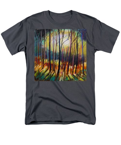 Men's T-Shirt  (Regular Fit) featuring the painting Ribbons Of Moonlight by John Williams