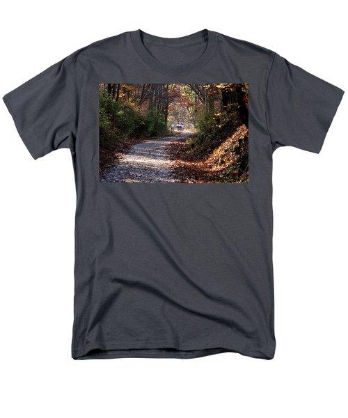 Riding Bikes On Park Trail In Autumn Men's T-Shirt  (Regular Fit)