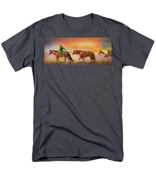 Men's T-Shirt  (Regular Fit) featuring the digital art Riding The Surf by Kari Nanstad
