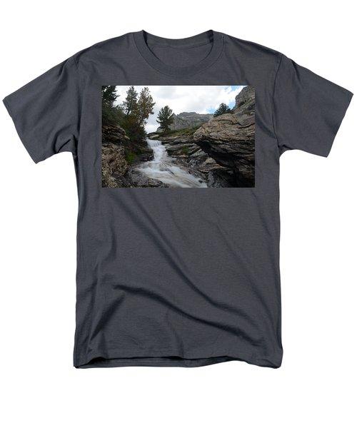 Right Fork Waterfall Men's T-Shirt  (Regular Fit) by Jenessa Rahn