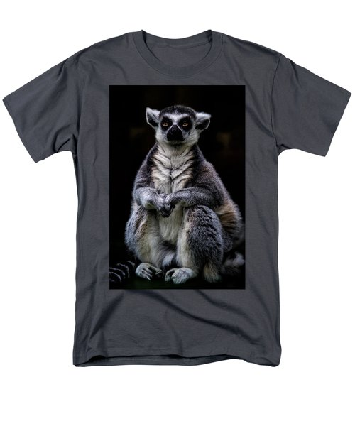 Men's T-Shirt  (Regular Fit) featuring the photograph Ring Tailed Lemur by Chris Lord