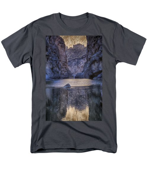 Rio Grand, Santa Elena Canyon Texas Men's T-Shirt  (Regular Fit) by Kathy Adams Clark