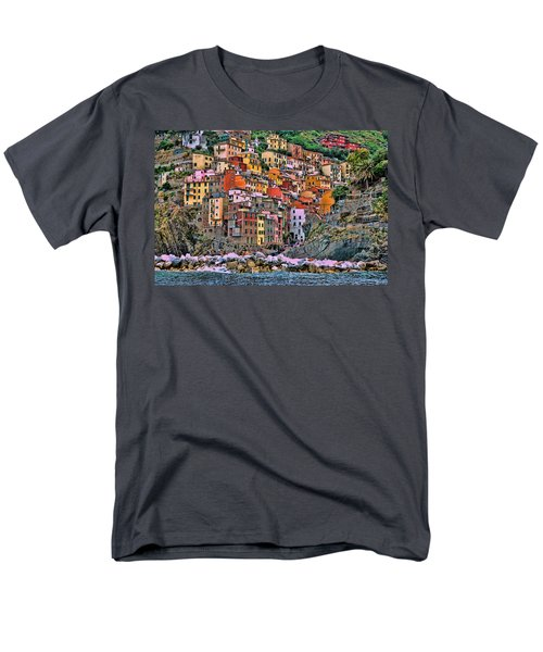 Men's T-Shirt  (Regular Fit) featuring the photograph Riomaggiore by Allen Beatty