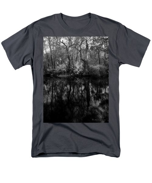 River Bank Palmetto Men's T-Shirt  (Regular Fit) by Marvin Spates