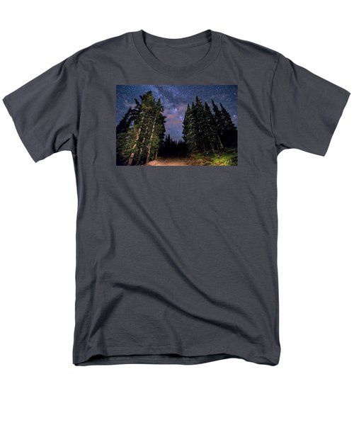 Road To Milky Way Men's T-Shirt  (Regular Fit) by Michael J Bauer