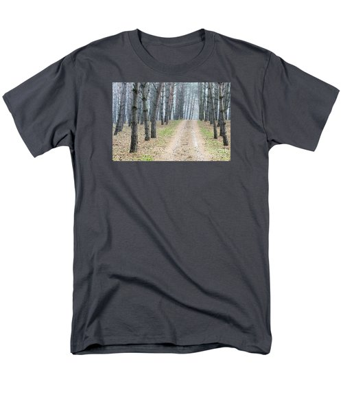 Road To Pine Forest Men's T-Shirt  (Regular Fit) by Odon Czintos