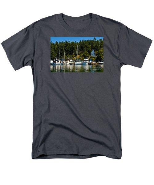 Roche Harbor Marina Men's T-Shirt  (Regular Fit) by Chuck Flewelling