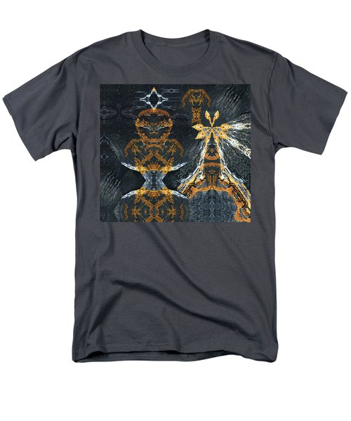 Men's T-Shirt  (Regular Fit) featuring the digital art Rock Gods Lichen Lady And Lords by Nancy Griswold
