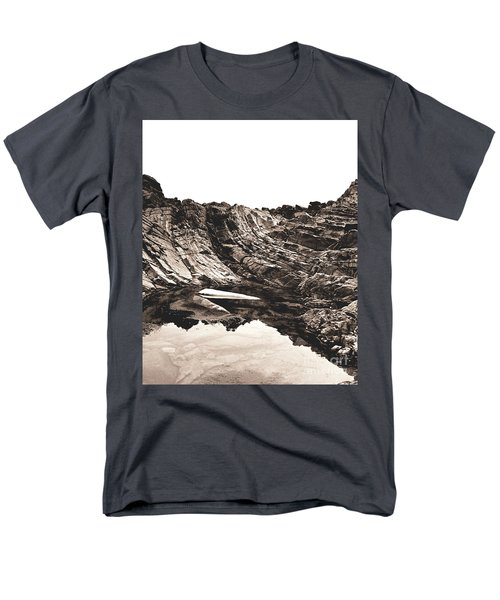 Rock - Sepia Detail Men's T-Shirt  (Regular Fit) by Rebecca Harman