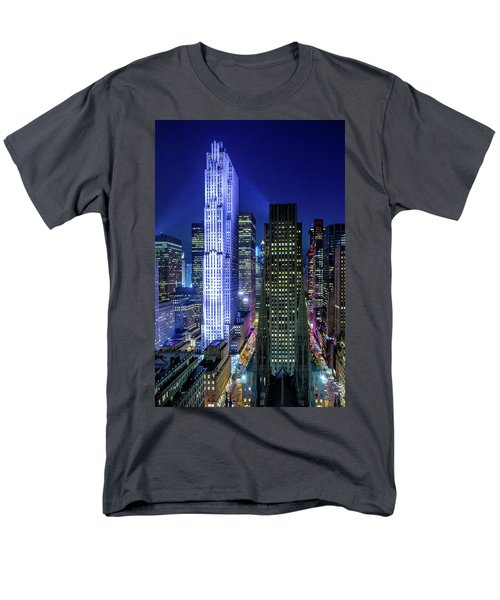 Rockefeller At Night Men's T-Shirt  (Regular Fit) by M G Whittingham