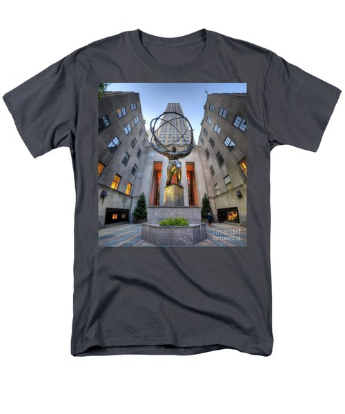 Rockefeller Centre Atlas - Nyc - Vertorama Men's T-Shirt  (Regular Fit) by Yhun Suarez
