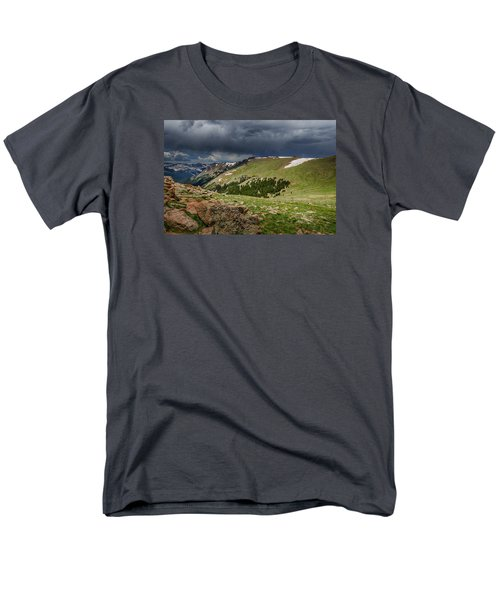 Rocky Mountain Strorm Men's T-Shirt  (Regular Fit) by Mary Angelini