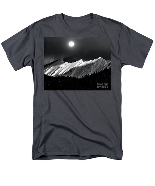 Rocky Mountains In Moonlight Men's T-Shirt  (Regular Fit) by Elaine Hunter