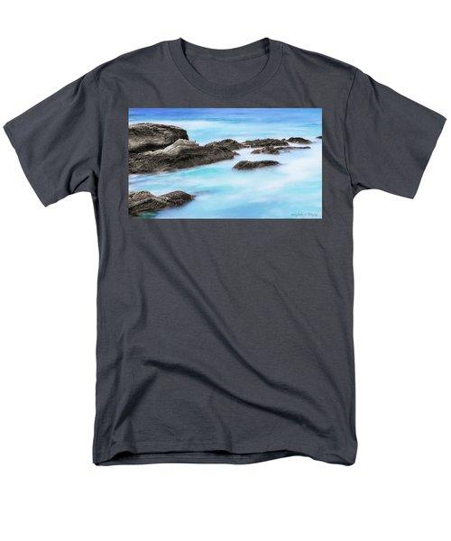 Men's T-Shirt  (Regular Fit) featuring the photograph Rocky Ocean by John A Rodriguez