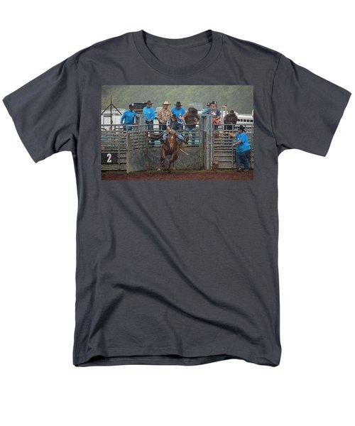 Rodeo Bronco Men's T-Shirt  (Regular Fit) by Lori Seaman