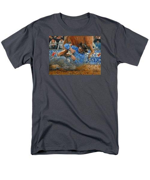 Rodeo Houston --steer Wrestling Men's T-Shirt  (Regular Fit) by Doug Kreuger