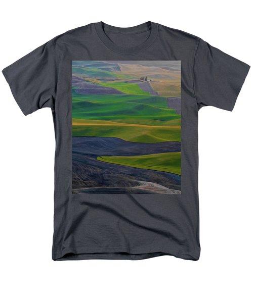 Rolling Fields Of The Palouse Men's T-Shirt  (Regular Fit) by James Hammond