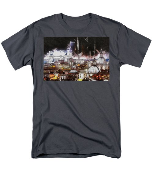 Men's T-Shirt  (Regular Fit) featuring the painting Roma Aeterna by Kai Saarto