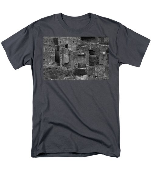 Men's T-Shirt  (Regular Fit) featuring the photograph Roman Colosseum Bw by Silvia Bruno