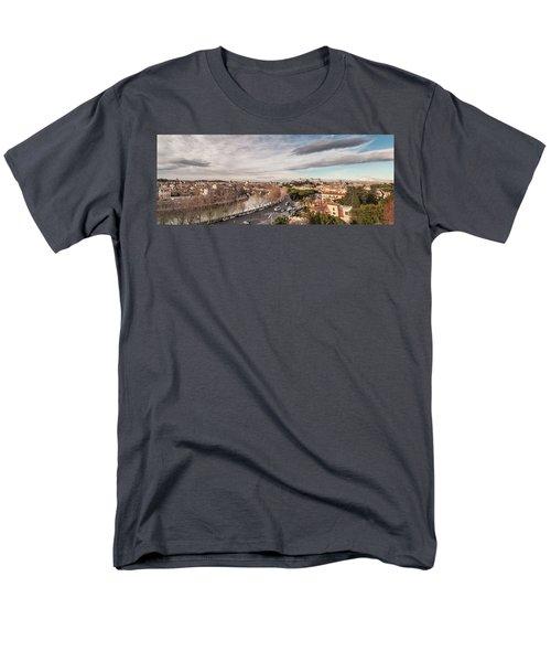 Rome - Panorama  Men's T-Shirt  (Regular Fit) by Sergey Simanovsky