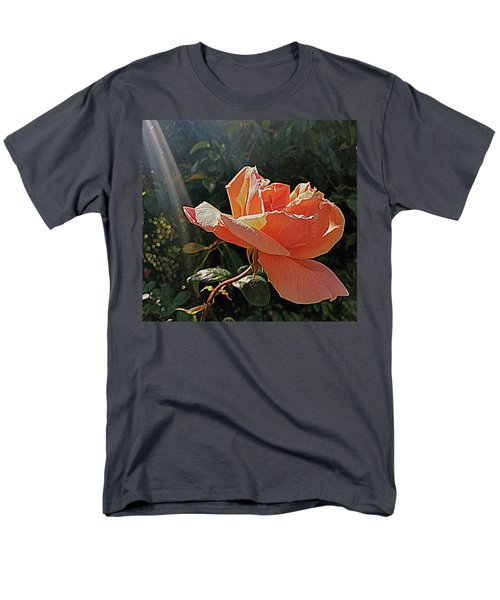 Men's T-Shirt  (Regular Fit) featuring the photograph Rose And Rays by Suzy Piatt