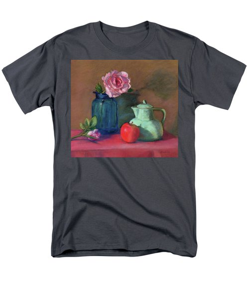 Rose In Blue Jar Men's T-Shirt  (Regular Fit) by Vikki Bouffard
