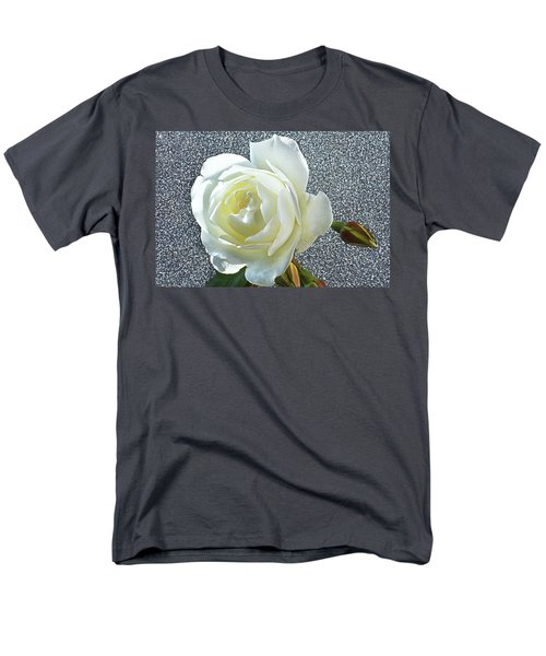 Men's T-Shirt  (Regular Fit) featuring the photograph Rose With Some Sparkle by Terence Davis
