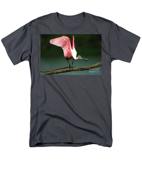 Rosiette Spoonbill Texas Men's T-Shirt  (Regular Fit) by Bob Christopher