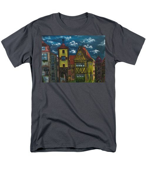 Men's T-Shirt  (Regular Fit) featuring the painting Rothenburg Ob Der Tauber by The GYPSY And DEBBIE