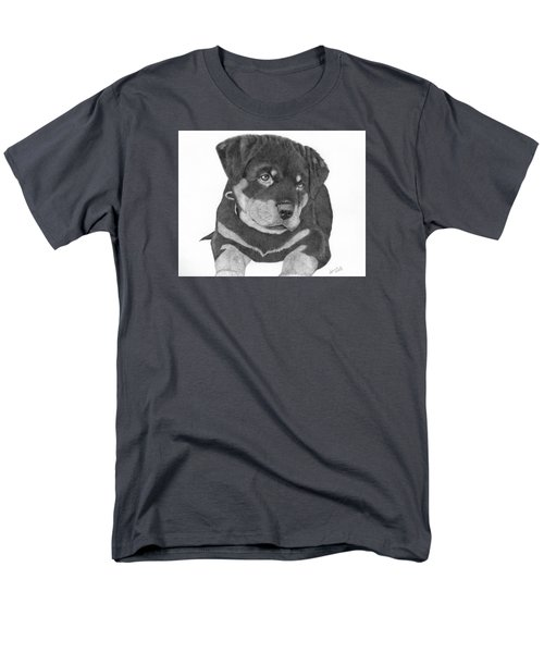 Men's T-Shirt  (Regular Fit) featuring the drawing Rottweiler Puppy by Patricia Hiltz