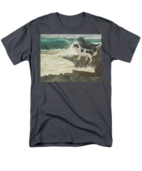 Men's T-Shirt  (Regular Fit) featuring the painting Roughsea by Terry Frederick