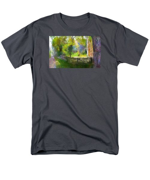 Men's T-Shirt  (Regular Fit) featuring the painting Around The Cathedral by Wayne Pascall