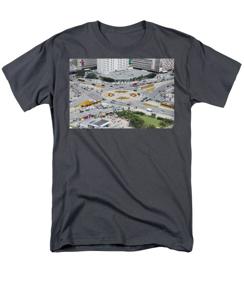 Men's T-Shirt  (Regular Fit) featuring the photograph Roundabout In Warsaw by Chevy Fleet