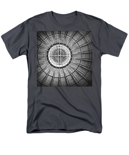 Roundhouse Architecture - Black And White Men's T-Shirt  (Regular Fit) by Joseph Skompski