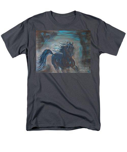 Men's T-Shirt  (Regular Fit) featuring the painting Run Horse Run by Leslie Allen