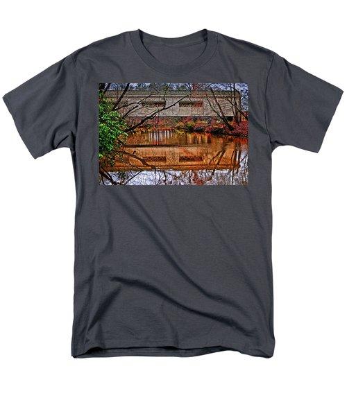 Running Waters Covered Bridge 025 Men's T-Shirt  (Regular Fit) by George Bostian
