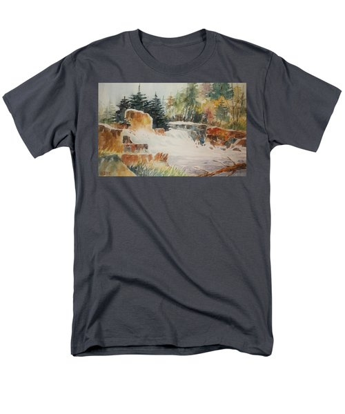 Rushing Streambed Men's T-Shirt  (Regular Fit) by Al Brown