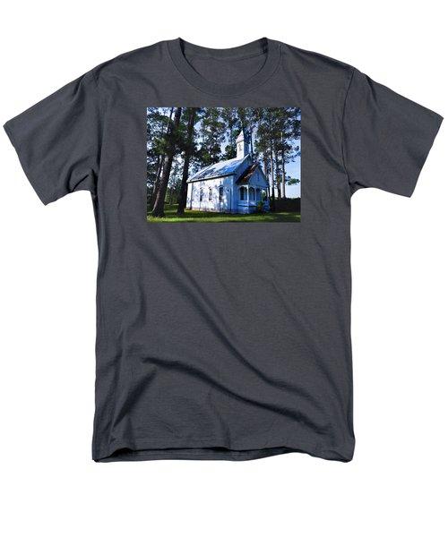Men's T-Shirt  (Regular Fit) featuring the photograph Ruskin - Ga Church by Laura Ragland