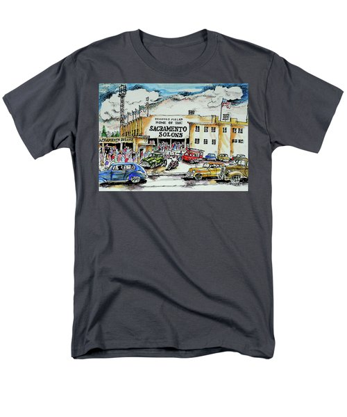 Men's T-Shirt  (Regular Fit) featuring the painting Sacramento Solons by Terry Banderas